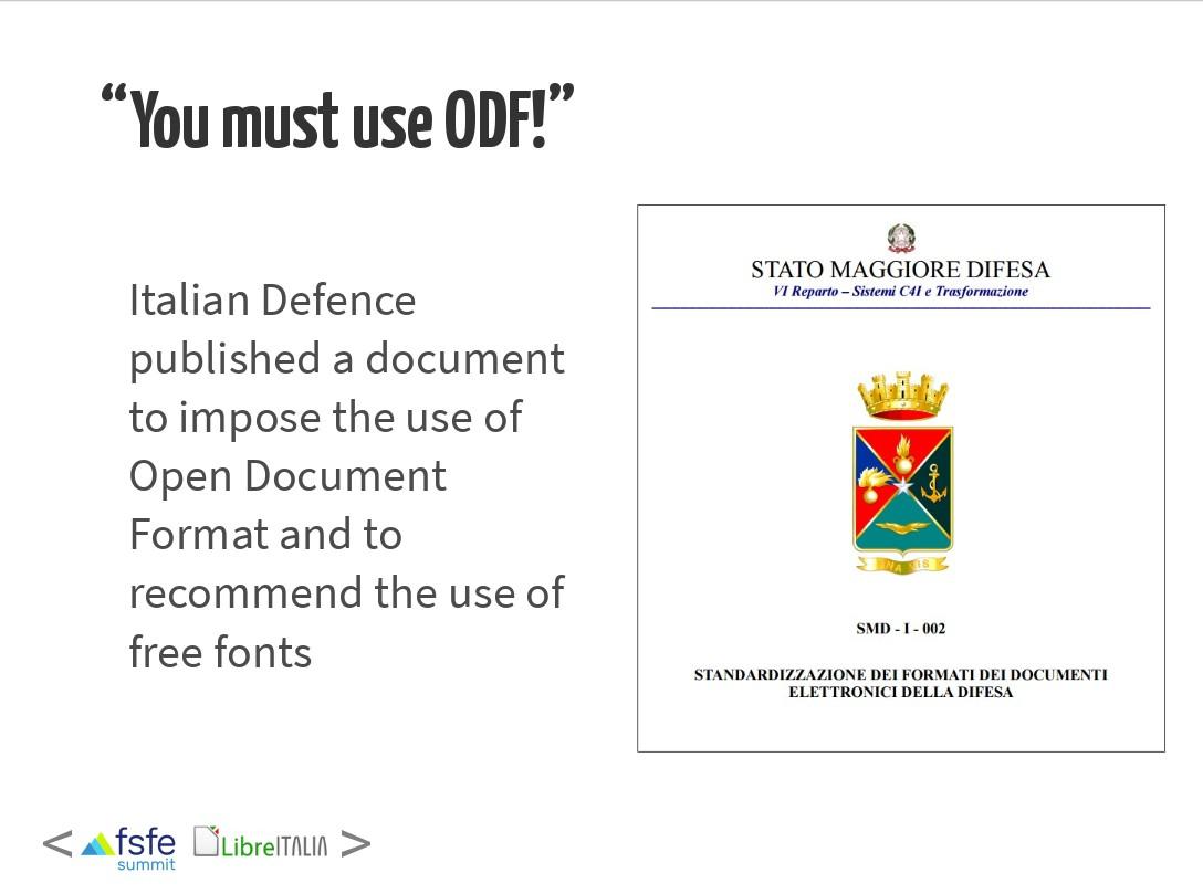 Defesa Italiana já migrou 8000 dos seus PCs para LibreOffice